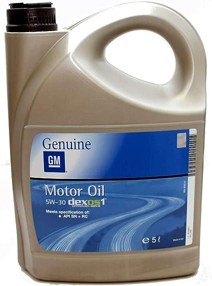 Opel GM 5W-30 Dexos1 Gen2 Longlife 95599877 - Aceite de motor ...