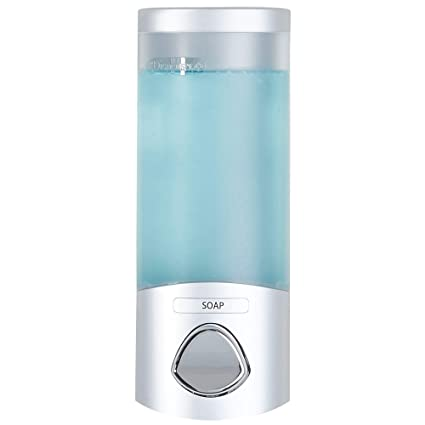 Better Living Products 76134 1 Euro Uno Shower Liquid Dispenser With  Translucent Container, Satin