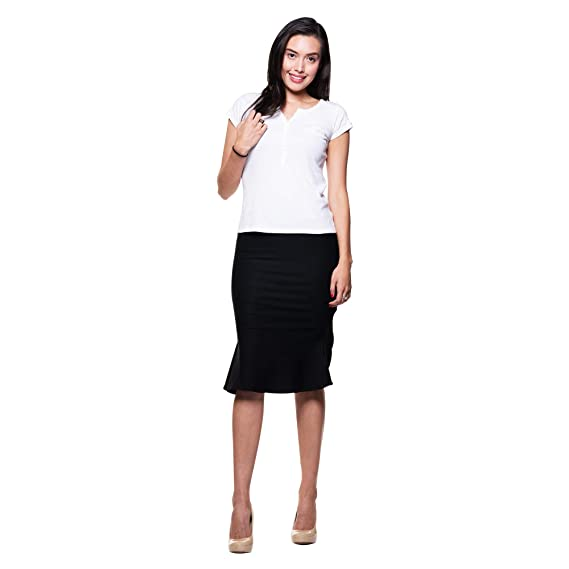 284df7c85b Amazon.com: Womens Stretchy Nylon Spandex Bell Shaped Trumpet Pencil Skirt  for Office Wear Knee Long Mini: Clothing