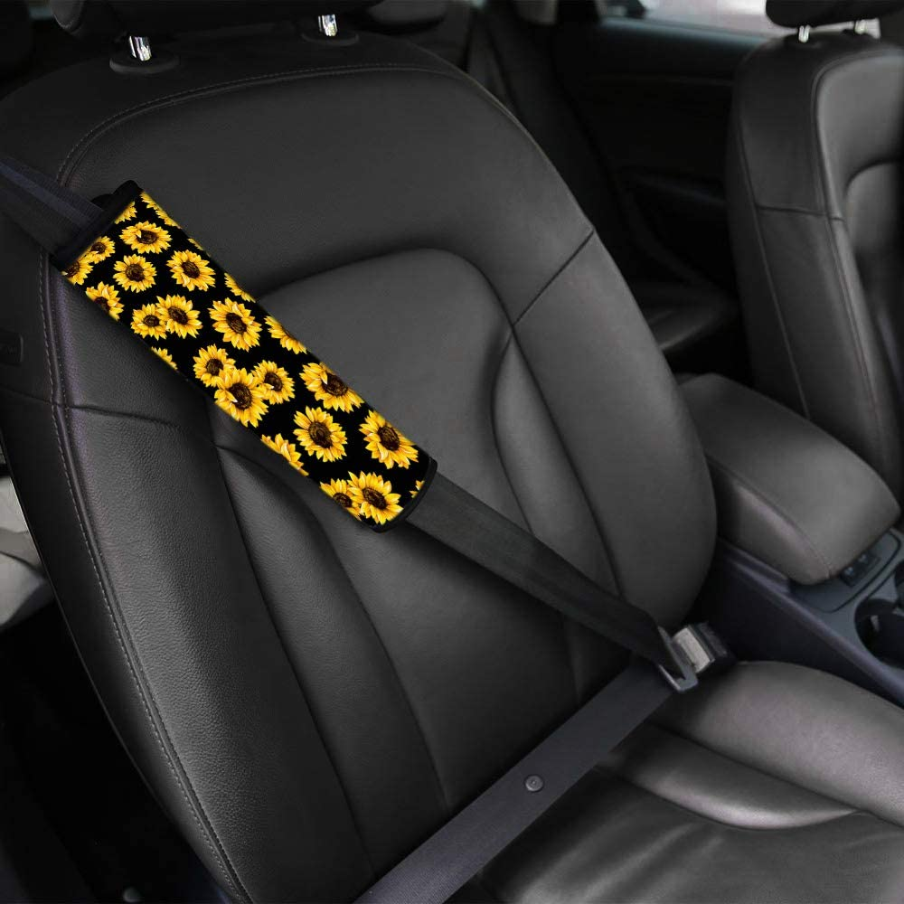 GOSTONG 2 Pack Car Seat Belt Pads for Teens Mens Womens Candy Skull Style Seatbelt Protector Soft Comfort Seat Belt Shoulder Strap Covers
