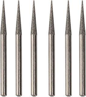 Diamond Coated Pointed Tip 45mm Grinding Burrs Bit 3mm Shank 6Pcs