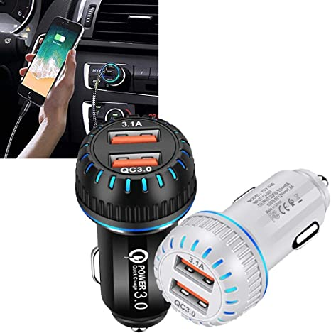 LEANO USB Car Charger Mobile Phone Car Charger 3 USB Ports