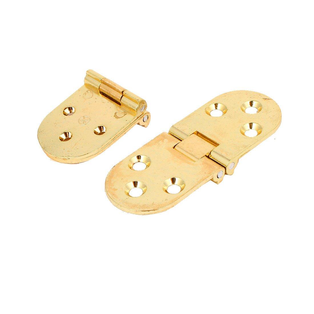 2 Stück 78mm x 29mm x 8mm Metall 180 Grad Kugellager Tür Scharnier Gold
