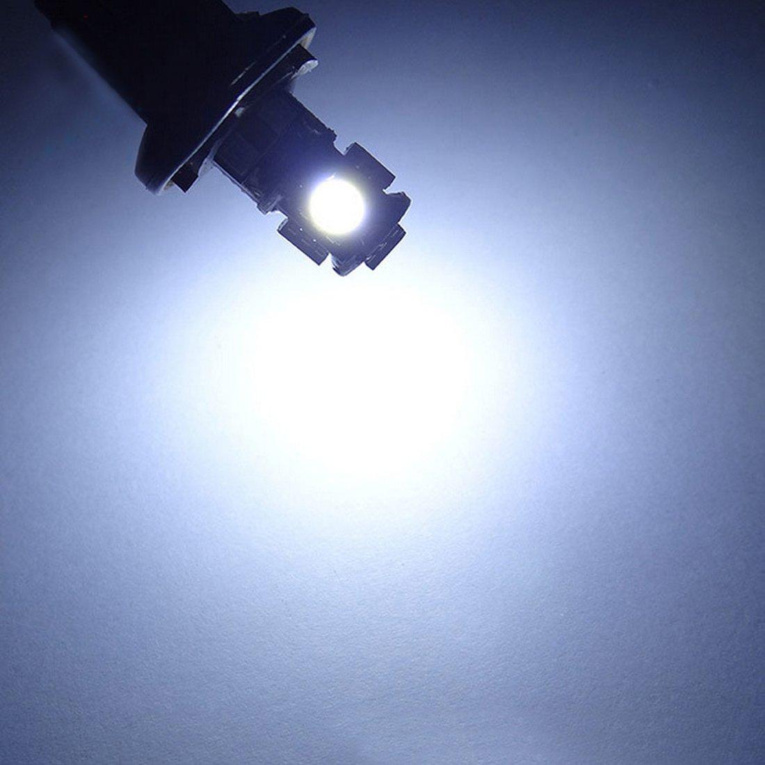 Cupola Tronco cruscotto Segnale Safego 10 x T10 Auto LAMPADINE W5W bianche 194 168 cuneo Tipo 5 SMD 5050 bianco LED luci dellautomobile Bulb 12V diretto Replacment e Reverse RV per Interni
