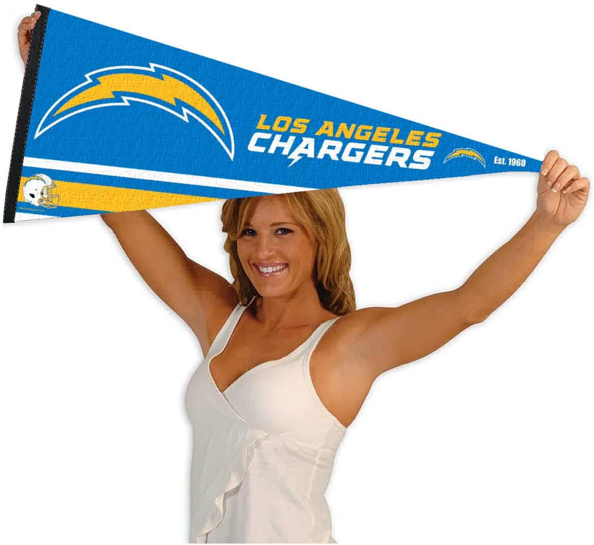 WinCraft Los Angeles Chargers Pennant Banner Flag