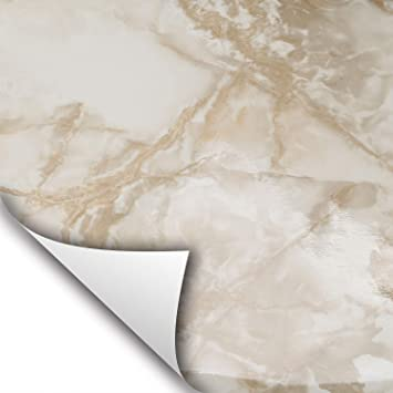 Beige Gray Marble  Peel and Stick Paper Contact On Kitchen Cabinet Shelf Drawer