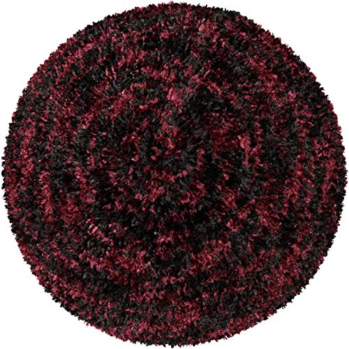 Lizi Headwear Chenille Colorful Slouchy Beanie Beret Hat Headcovering for Women (Black/Burgundy, Unlined) (Chenille Beanie Hat)