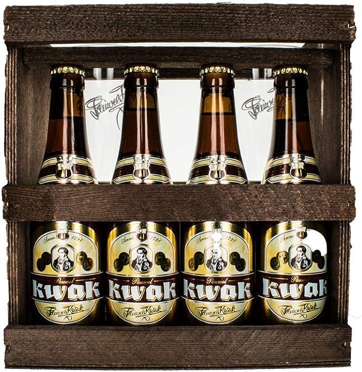 Pack cerveza Kwak + 2 Vasos Kwak Duo: Amazon.es: Alimentación y bebidas