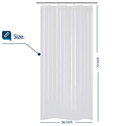 Barossa Design Small Shower Curtain For Stall Size 36 X 72 InchesPEVA