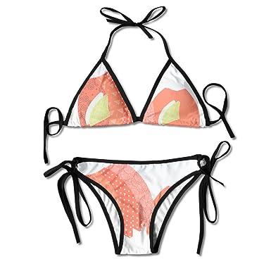 Amazon.com: Pumpkin Pillow Sewing Pattern Women\'s Sexy Bikini Set ...