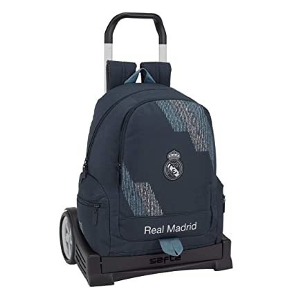 Safta Mochila con Carro Evolution Real Madrid Color Azul 43 cm 611834860