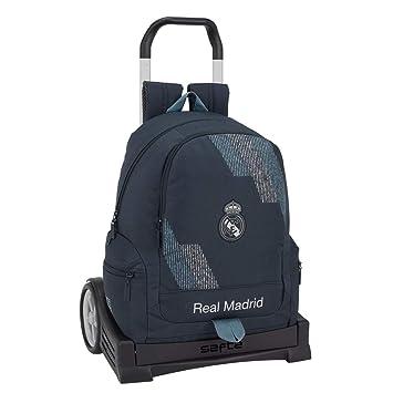 Safta Mochila con Carro Evolution Real Madrid, Color Azul, 43 cm (611834860): Amazon.es: Juguetes y juegos