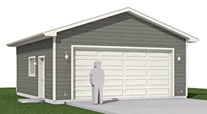 Amazon Garage Plans 2 Car Heavy Duty Garage Plan 6241HD – 24 X 26 Garage Plans