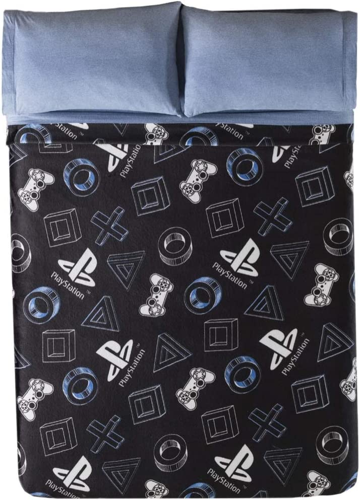 JORGE'S HOME FASHION INC Limited Edition Playstation Original License Teens-Kids Boys Light Blanket Very Softy and Warm Queen Size