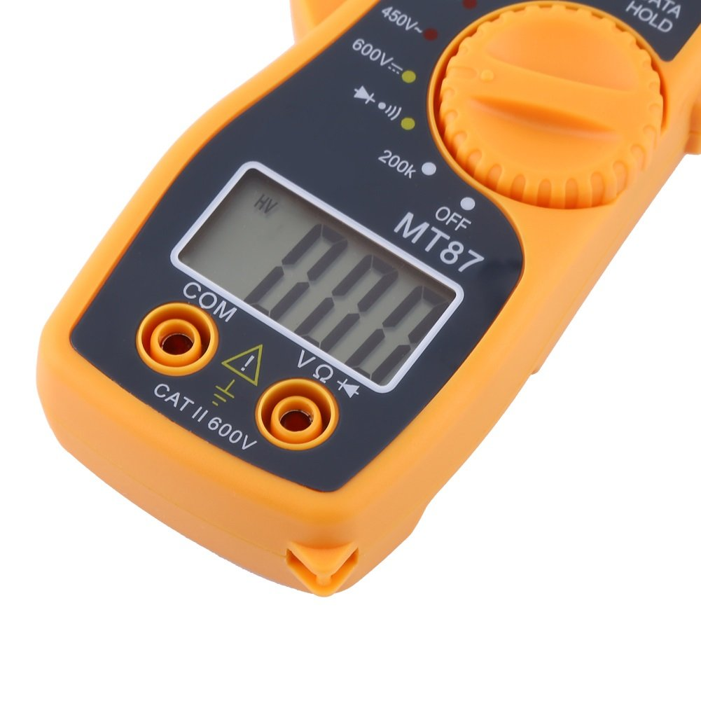 delaman Digital Clamp mult/ímetro con pinzas de Data Hold Function Pinza amperim/étrica AC//DC Corriente Voltaje Tester pantalla LCD