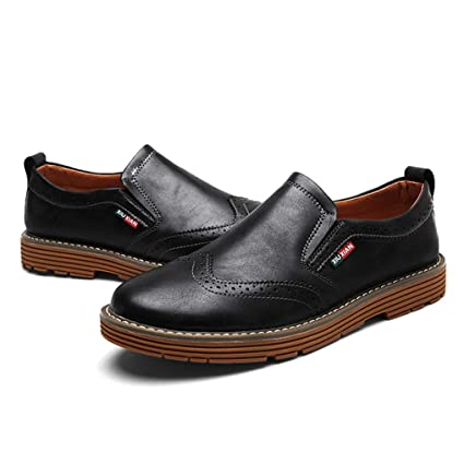 8a38a088eb1 Amazon.com  Starttwin Men s Oxford Shoes Leisure Slip on Comfort Soft Wingtip  Dress Loafers Shoes  Sports   Outdoors