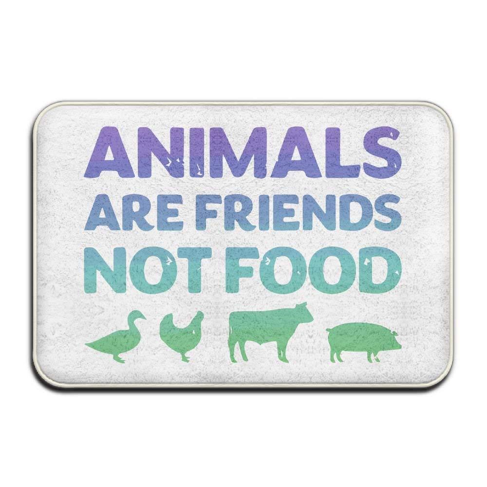 Highest Quality Materials Bath Mat Animals are Friends Not Food Vegans Vegetarian Bedroom Floor Absorbent Doormat by eeapaen3e