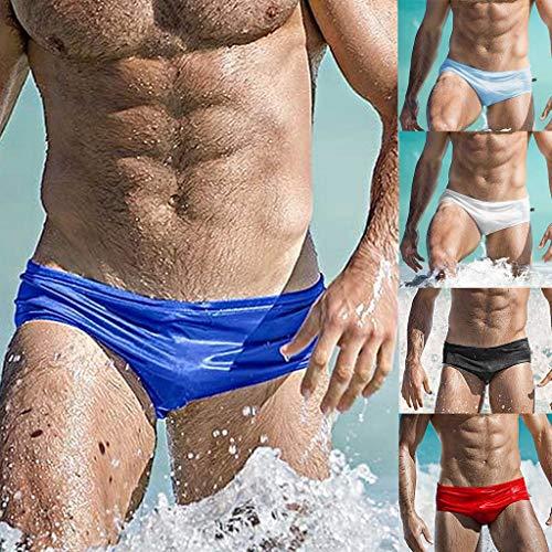 Pantalons Bleu Course Hommes Couleur vêtements Solide Ihengh Respirant Malles Swim Natation Trunks Mode De Clair Sous Plage U17Iw