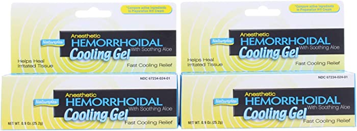 2 Pk. Natureplex Anesthetic Hemorrhoidal Cooling Gel with Soothing Aloe