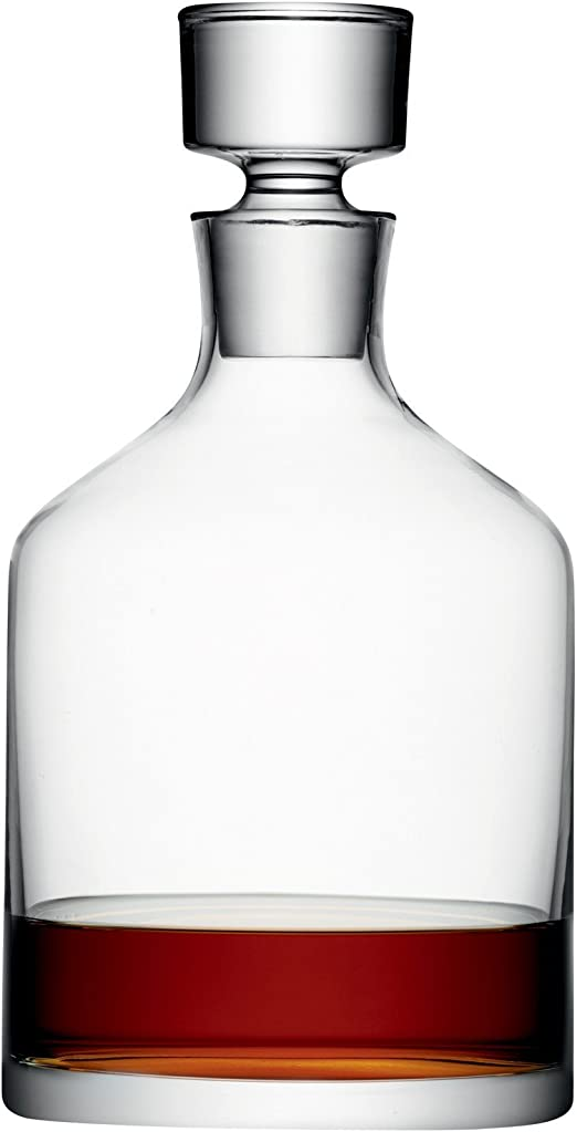17 fl oz Clear Glass Decanter with Lid 9 Inch Tall