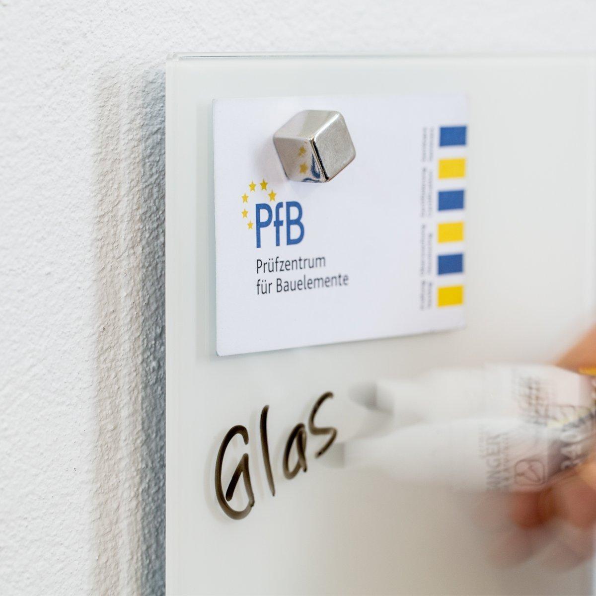 SmartGlassBoard /® Lavagna magnetica in vetro // Lavagnetta 100 x 60 cm 1 pennarello +1 cancellino 3 magneti colore: Bianco