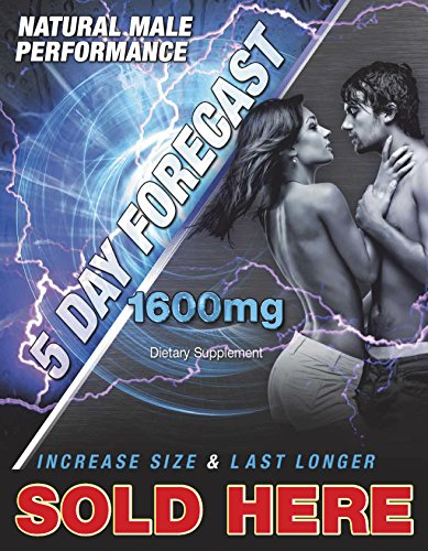 5 Day Forecast Fast Acting Male 1 600Mg Box Of 25 Capsules