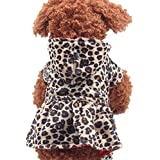 Gyoume Pet Dog Hoodie Dress Tops Leopard Hoodie Coats Puppy Doggy Cotton Hoodie Clothes