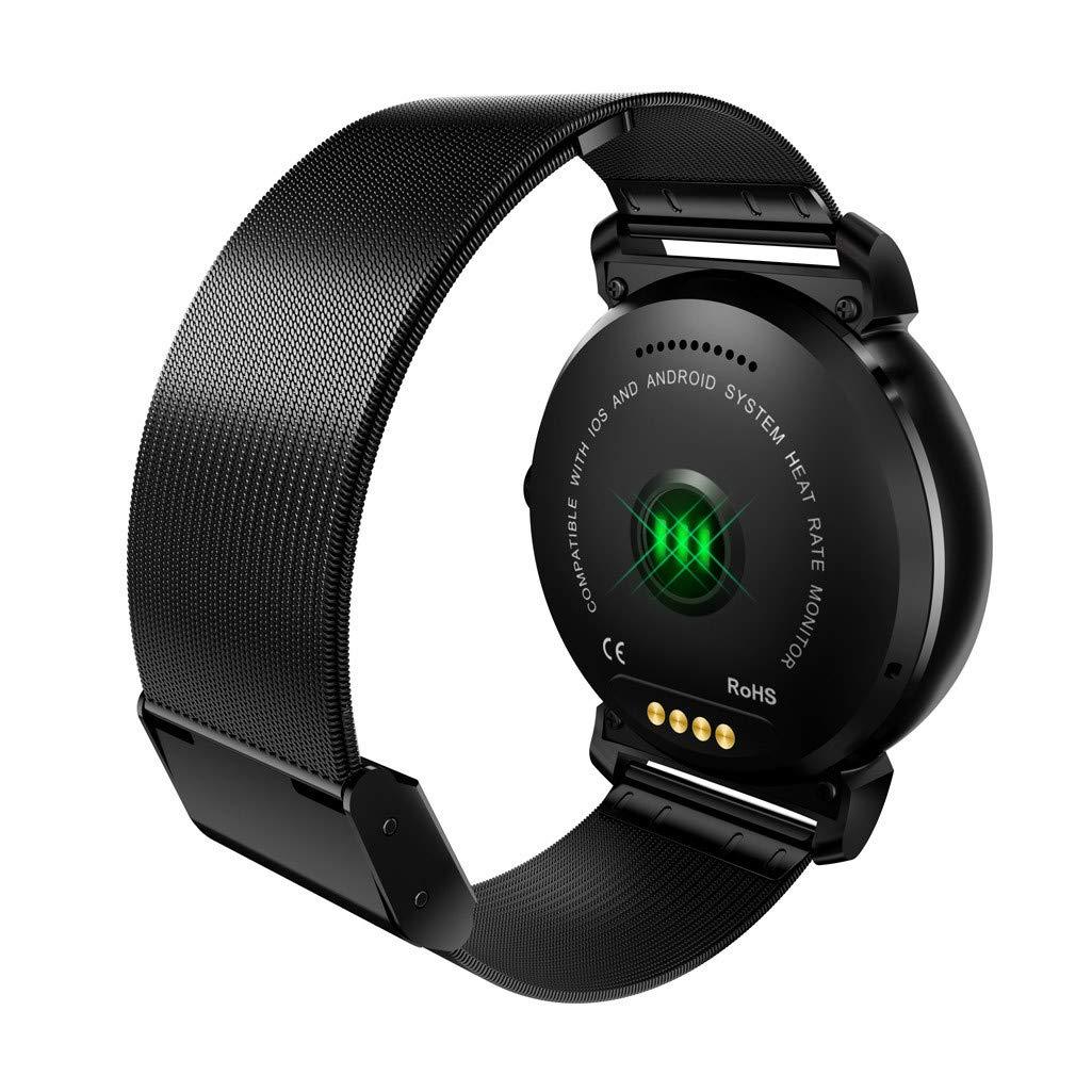 Cebbay Reloj Inteligente IPS Pantalla Redonda K88H Plus Monitor de Pulso cardiaco Reloj de Hombre Reloj Deportivo Reloj electronico: Amazon.es: Electrónica