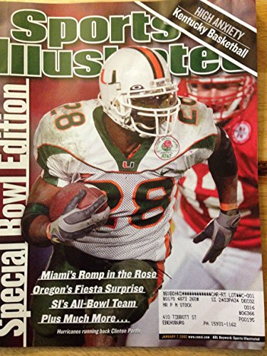 SPORTS ILLUSTRATED JAN 7, 2002 CLINTON PORTIS HURRICANES EX