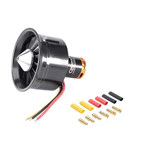 uxcell 64mm 12 Blades Ducted Fan EDF Jet Engine with 3500KV 3-4S RC  Brushless Motor for RC Airplane