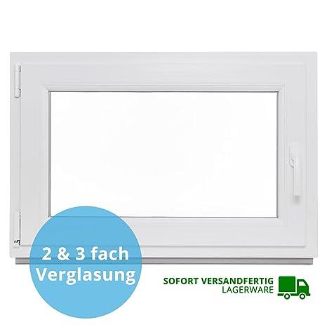 2 fach Verglasung innen wei/ß//au/ßen anthrazit Fenster Kellerfenster 1200 x 400 mm 60 mm Profil Kunststoff DIN Links BxH: 120 x 40 cm