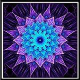quilt frame kit - FimKaul 30×30cm Flower Theme 5D Embroidery Paintings, Rhinestone Pasted DIY Diamond Painting Cross Stitch Home Decor (B, 30X30cm)