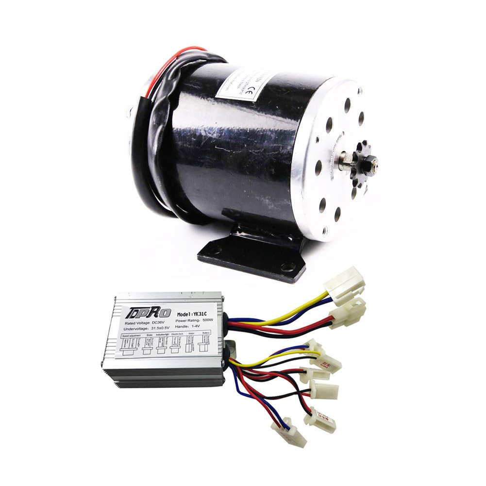 Power Sports Galaxy 36V 500W Brushed Speed Motor Controller Set for Electric Moped Scooter ATV Mini Bike
