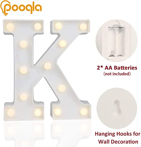 Stern Gift Birth Christening Baby Party Lamp Name LED Snooze Light LETTER M