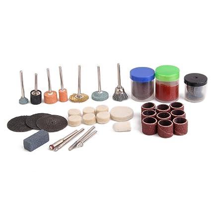 Bulfyss Cutting Grinding Electric Polishing Engraving Drill Bits Rotary Set - 125 Pieces