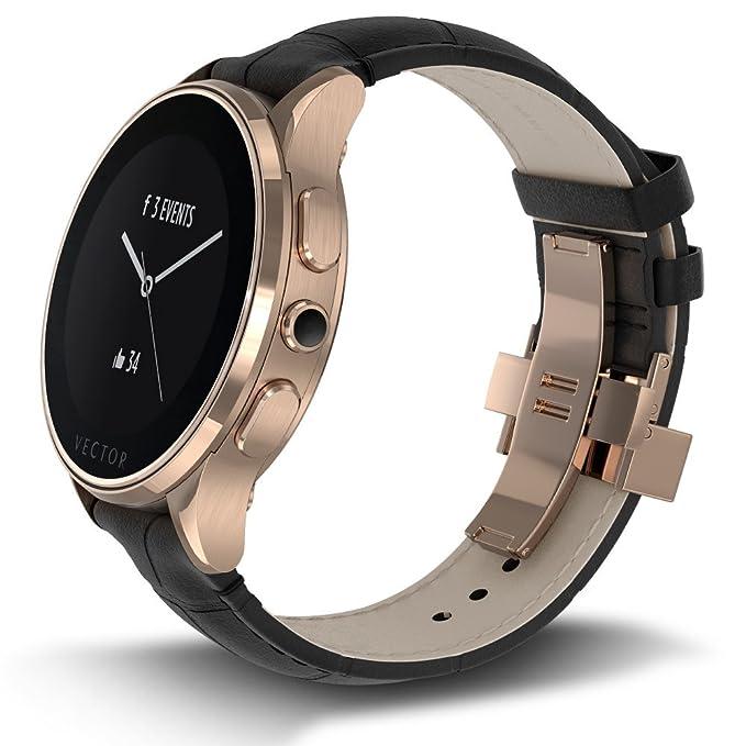 Vector L1-10-010 Luna - Smartwatch con correa negro, color ...