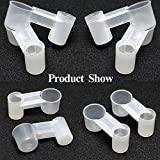 kathson 20 Pcs Bird Drinker Feeder Plastic Soda Pop Water Bottle Cup Ideal for Chicken Pigeons Birds Feeder Trough Animal Feeding Accessories