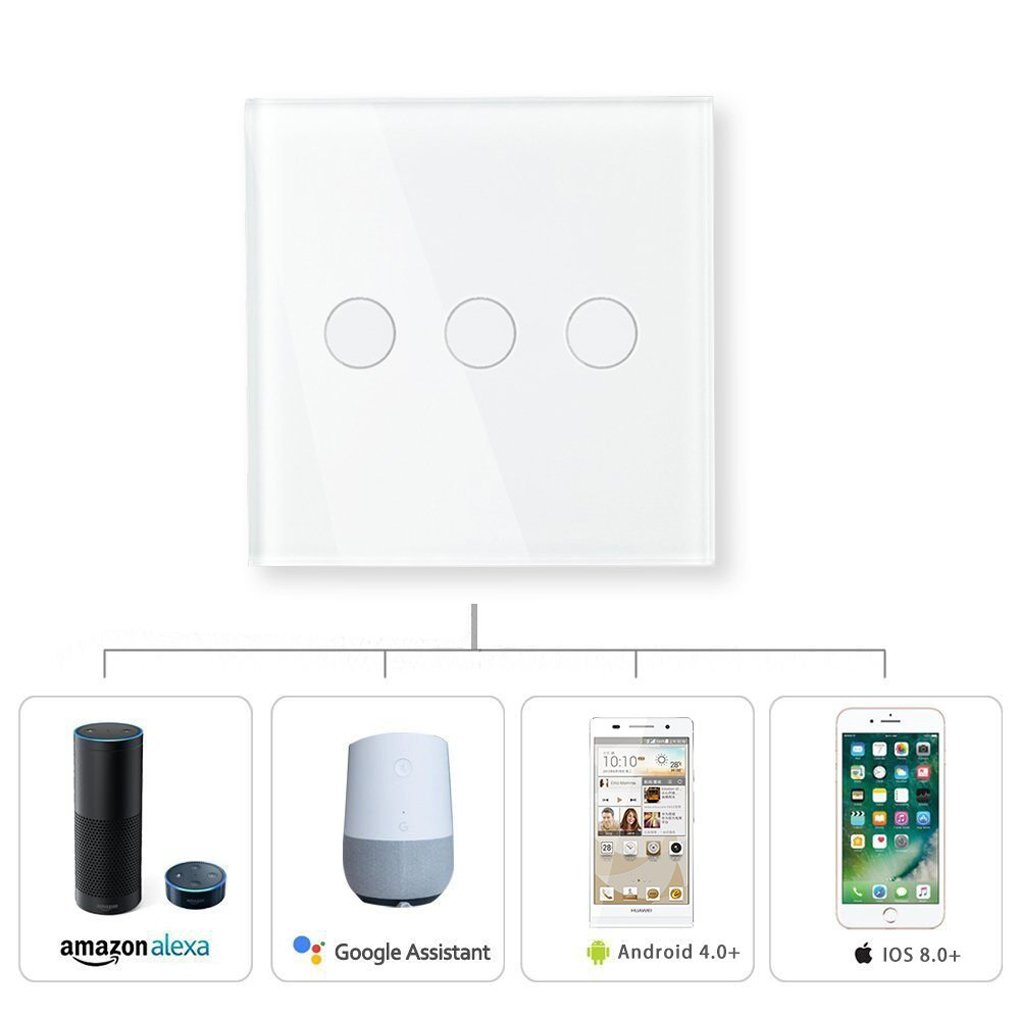 Smart Light Switches Orbeor Touch Switch Works With Alexa And 4 Way Function Google Home Wifi Wall 1 Gang
