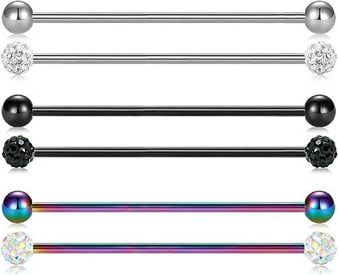 Accessoire piercing tige de 1,2 mm 16 gauge longueur 35 mm