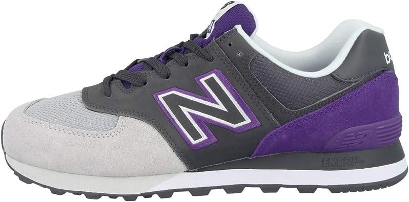 New Balance ML574UPB - Zapatillas, color gris y morado: Amazon.es: Zapatos y complementos