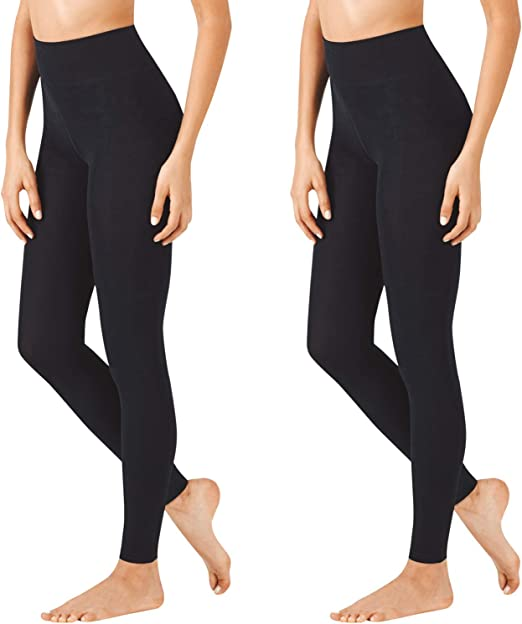 2 Pack Warners Womens Ultra Soft Opaque Control Top Waist Tights