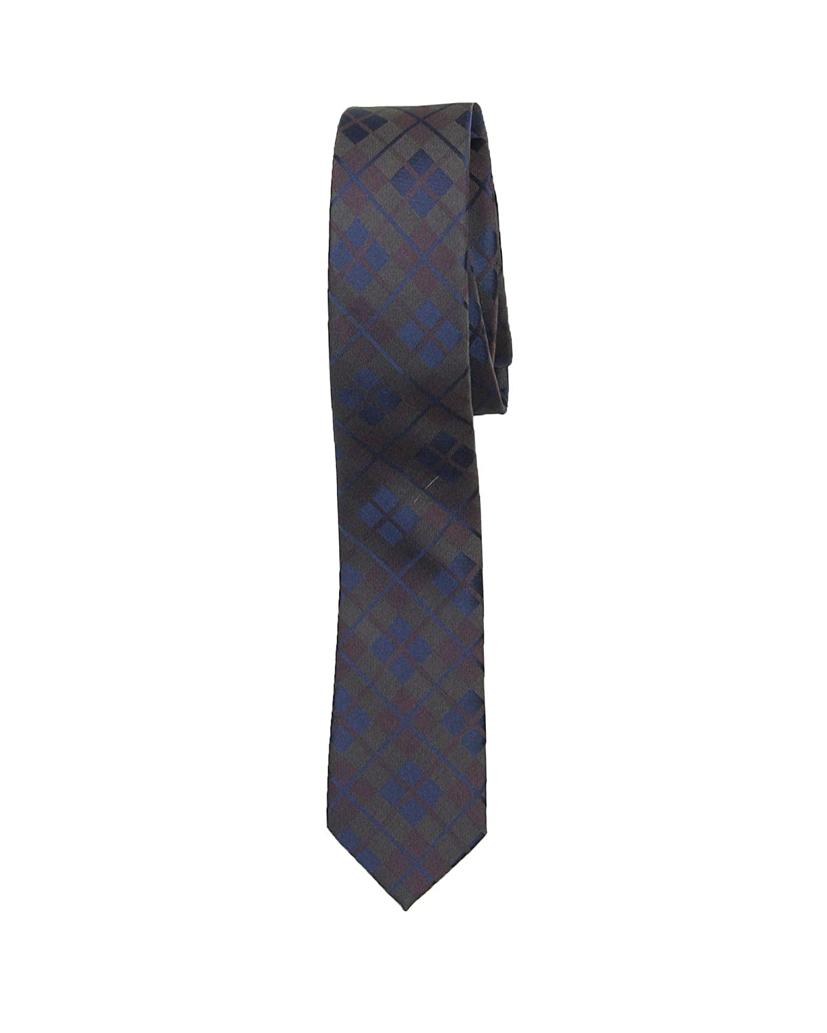 Mavezzano Boys Tie in Brown Plaid