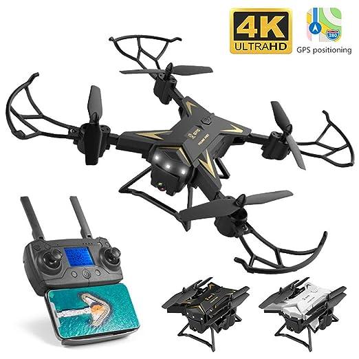 Drone 4K Quadcopter Plegable HD GPS Drones 5G WiFi FPV Drone con ...