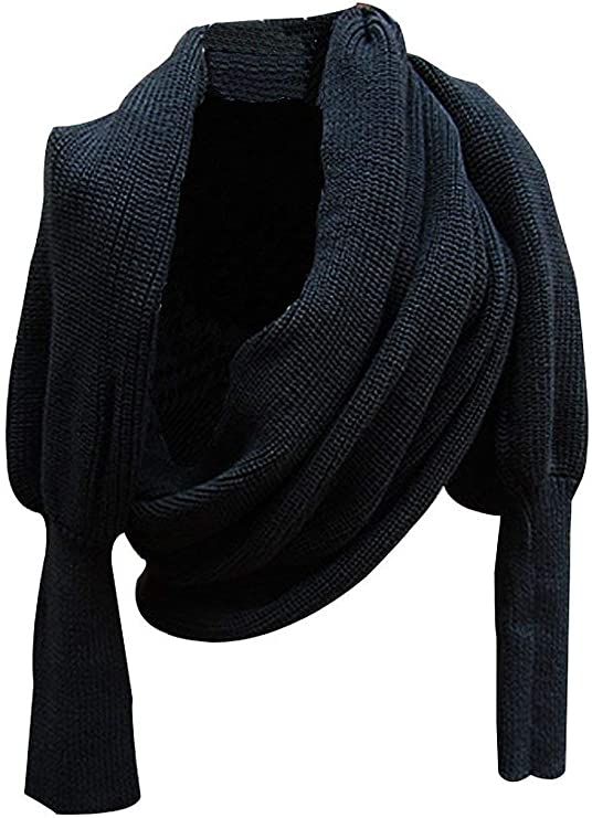 Amazon.com: Max Beauty Autunm Winter Scarf Fashion Unisex Knitted Scarf with Sleeves: Clothing