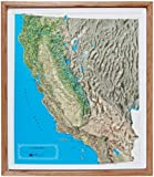 American Educational California NCR Series Map with Oak Wood Frame, 25-3/4