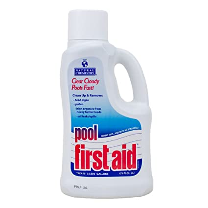 Natural Chemistry 03122 Pool First Aid Clears Cloudy Swimming Pool Water,  2-Liters