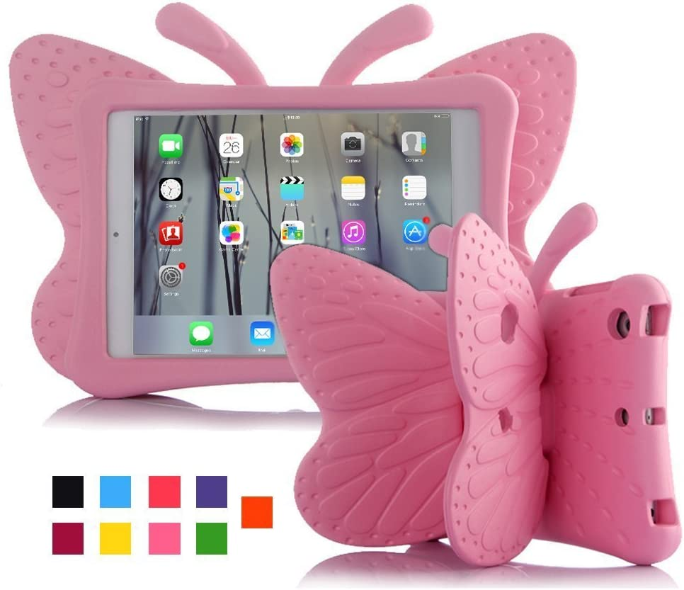 Feitenn 3D Cartoon Butterfly Non-toxic EVA Light weight Kid Proof Shockproof case with Kickstand