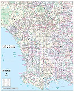 Los Angeles Map By Zip Codes.Los Angeles Ca Detailed Region Wall Map 48 X59 With Zip Codes