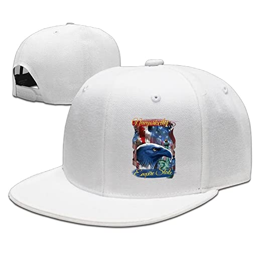 995d2eb68db Image Unavailable. Image not available for. Color  Eagle New York America  Hawk Solid Flat Bill Hip Hop Snapback Baseball Cap Unisex sunbonnet Hat