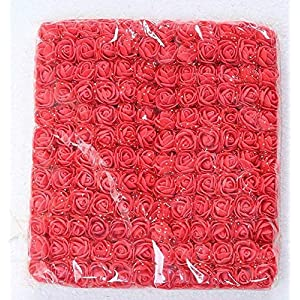 LA Decor Supply 144 Pieces Mini Artificial Realistic PE Flower Petals Real Looking Rose with Stem Chiffon for for Decorations, Wedding, Home, Baby Shower, All Other DIY Craft Project 2